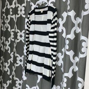 Loft black and white light cardigan